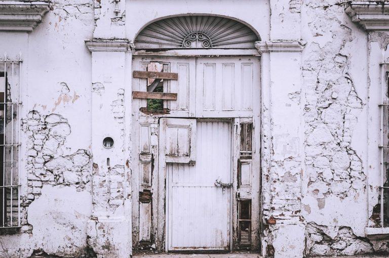 old white door