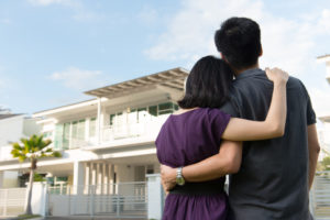 couple with a new house